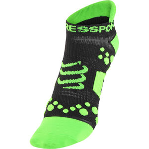 Compressport Racing V2 Run Low Socks black/green black/green