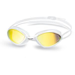 Head Tiger Race Mirrored LiquidSkin Goggles white - smoke white - smoke