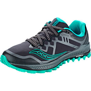 saucony Peregrine 8 GTX Shoes Women BLACK/GREY/BLUE bei fahrrad.de Online