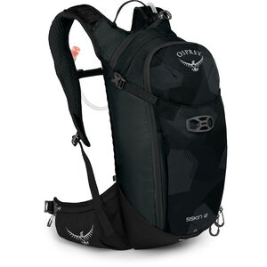 Osprey Siskin 12 Hydration Backpack Herren obsidian black obsidian black
