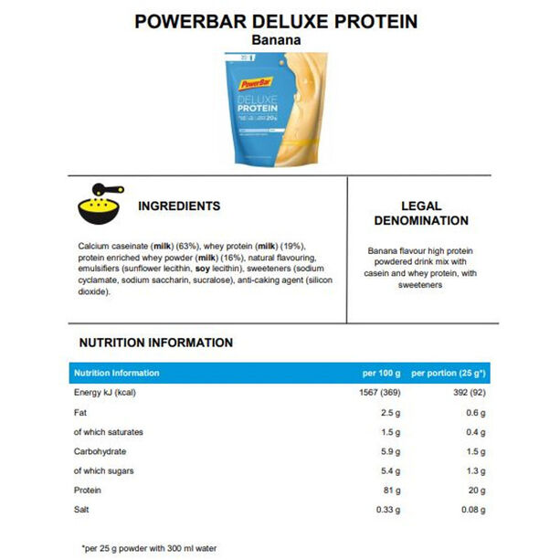 PowerBar Deluxe Protein Beutel 500g Banana