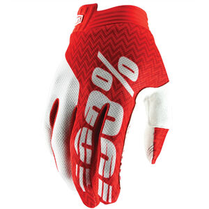100% iTrack Gloves red/white red/white