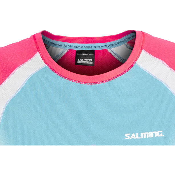 Salming Nova Tee Damen coral/light blue coral/light blue