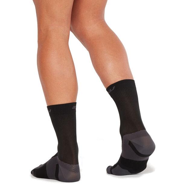 2XU Vectr Ultralight Crew Socks black/titanium
