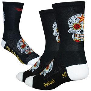 """DeFeet Aireator 5"""" Single Cuff Socken sugar skull/black/white sugar skull/black/white"""