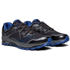 saucony Peregrine 8 GTX Shoes Herren black/grey/blue black/grey/blue