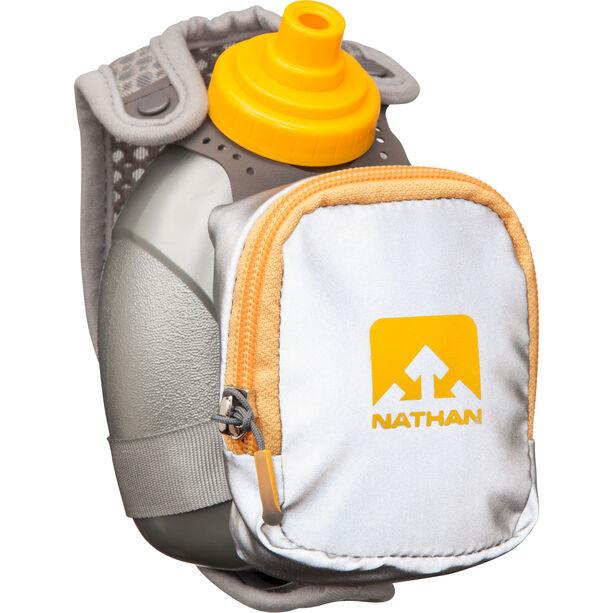 Nathan QuickShot Plus Handheld 300ml reflective silver/nathan orange