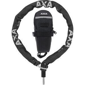 Axa RLC Kettenschloss für Defender 100cm + Schutztasche schwarz schwarz