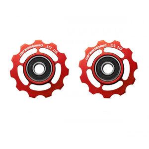 CeramicSpeed Road/MTB Schaltrollen Ceramic 607 für Shimano 11-fach red red