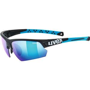 UVEX Sportstyle 224 Sportglasses black matt blue/mirror blue black matt blue/mirror blue
