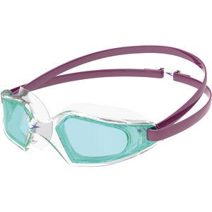 speedo Hydropulse Brille Kinder deep plum/clear/light blue deep plum/clear/light blue
