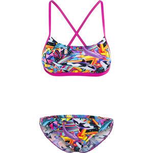 speedo Digi 2 Piece Xback Bikini Women pink/orchid/black bei fahrrad.de Online