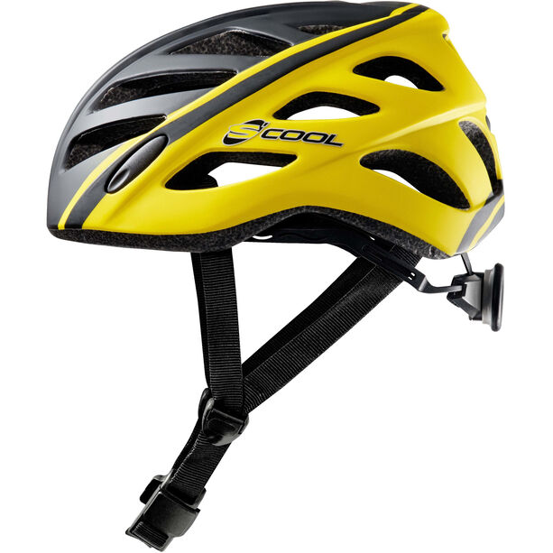 s'cool safeX 01 Helm Kinder black/yellow matt