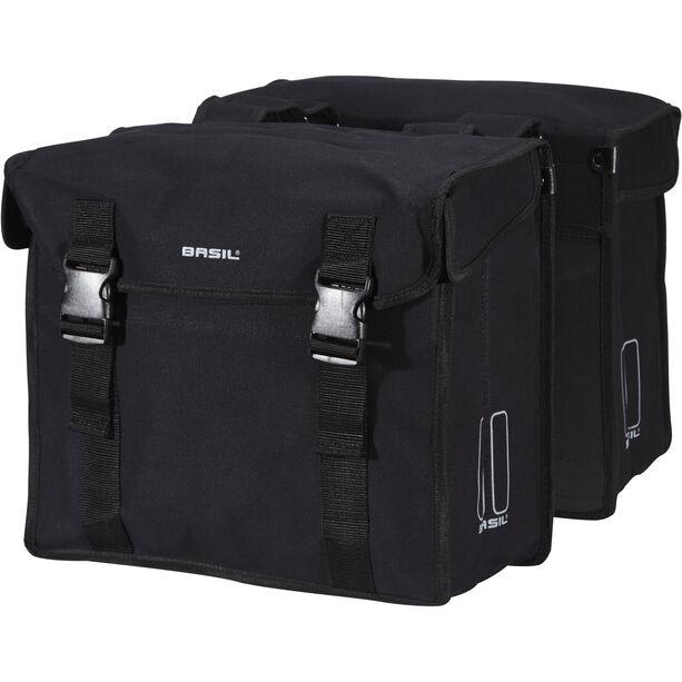 Basil Kavan Doppel-Gepäckträgertasche 45l schwarz