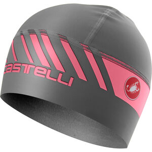 Castelli Arrivo 3 Thermo Skully Mütze dark gray/giro pink dark gray/giro pink