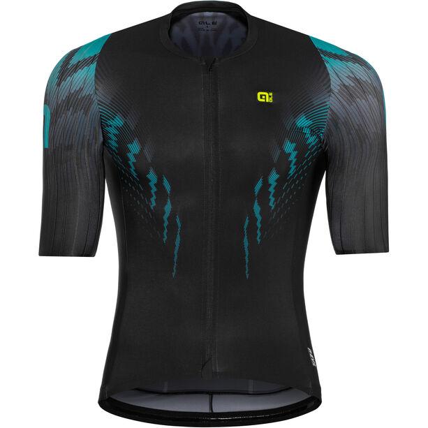 Alé Cycling R-EV1 Pro Race Shortsleeve Jersey Herren black-turquoise