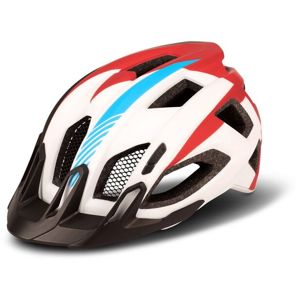 Cube Quest Teamline Helm white/blue/red