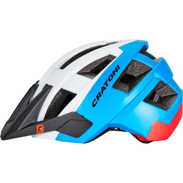 Cratoni Allset Helmet white-blue-red matt