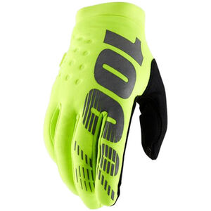 100% Brisker Cold Weather Gloves yellow/black yellow/black