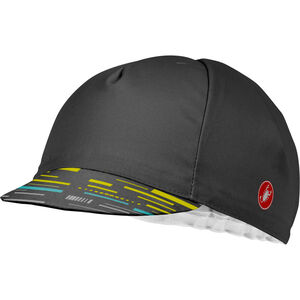 Castelli TR Cycling Cap Herren dark gray/yellow fluo dark gray/yellow fluo