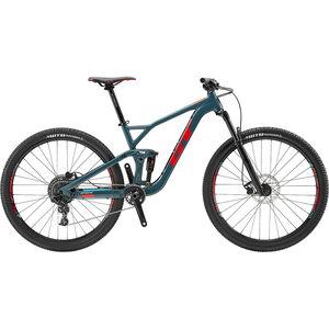 GT Bicycles Sensor Al Sport gloss slate blue/red/aqua blue