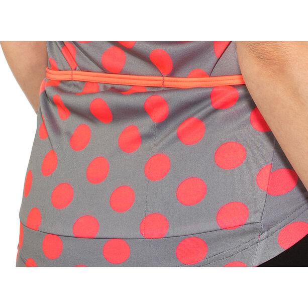 AGU Sprinkle Dot Shortsleeve Jersey Damen grey/coral