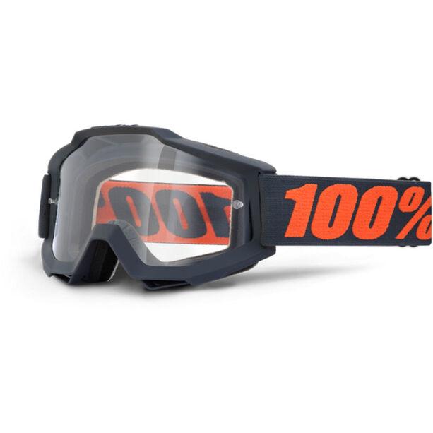 100% Accuri OTG Anti Fog Clear Goggles gunmetal