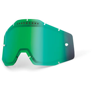 100% Vented Dual Replacement Lenses green / mirror green / mirror