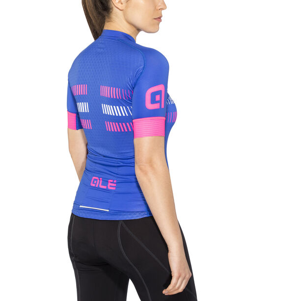 Alé Cycling Graphics PRR Strada Shortsleeve Jersey Damen blue light-fluo pink-white