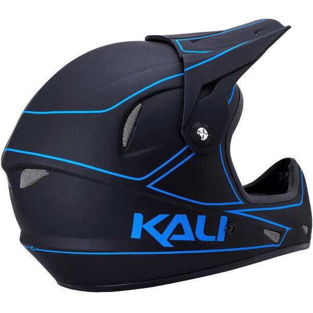 Kali Alpine Helm Herren matt schwarz/blau
