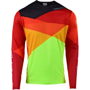 Troy Lee Designs Sprint LS Jersey Herren jet/yellow/orange jet/yellow/orange