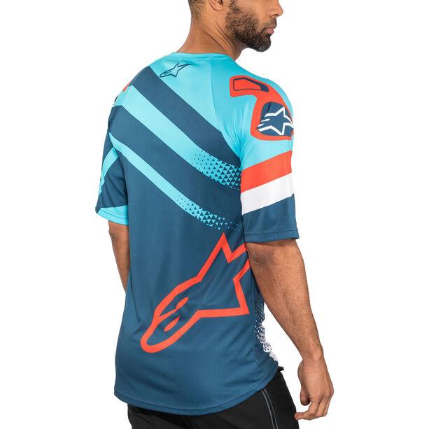 Alpinestars Racer Shortsleeve Jersey Herren atoll blue/poseidon blue