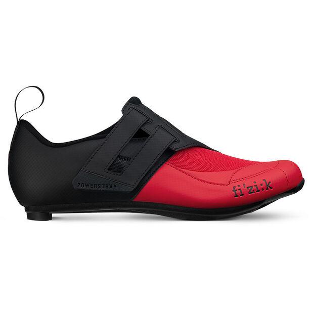 Fizik Transiro Powerstrap R4 Triathlonschuhe schwarz/rot