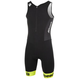 Bioracer Tri Team Suit Men black-fluo yellow