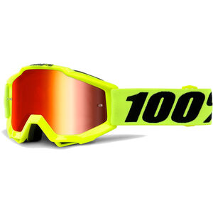 100% Accuri Anti Fog Mirror Goggles Youths Fluo Yellow