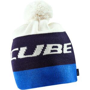 Cube Bommelmütze blue