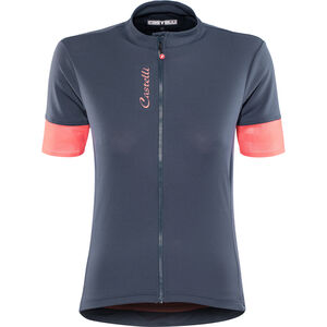 Castelli Anima 2 FZ Jersey Damen dark steel/blue/salmon dark steel/blue/salmon