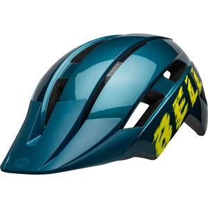 Bell Sidetrack II Helm Jugend blue/hi-viz blue/hi-viz