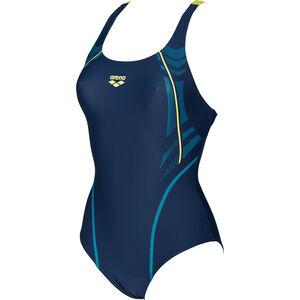 arena Energy Swim-Pro One Piece Swimsuit Women navy-soft green