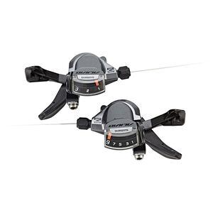 Shimano Alivio SL-M4000 Schalthebel Paar 3x9-fach Schelle inklusive Zug und Hülle schwarz schwarz