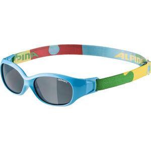 Alpina Sports Flexxy Glasses Kinder cyan-puzzle cyan-puzzle