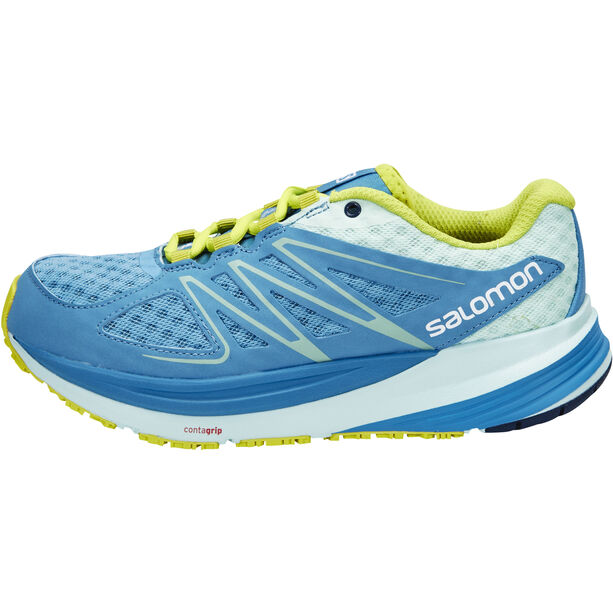 Salomon Sense Pulse Trailrunning Shoes Damen mist blue/igloo blue/gecko green