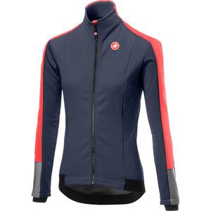 Castelli Mortirolo 3 Jacket Damen dark steel blue/brilliant pink dark steel blue/brilliant pink