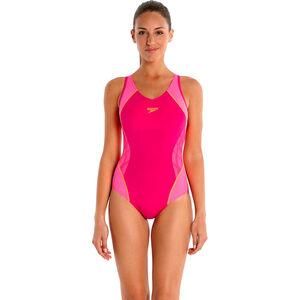 speedo SpeedoFit Splice Muscleback Damen magenta/fluo pink/fluo orange magenta/fluo pink/fluo orange
