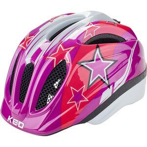 KED Meggy Helmet Kinder violet stars
