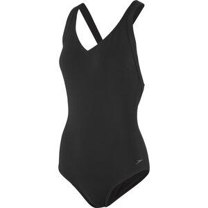 speedo Opalweb Swimsuit Damen black black