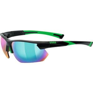 UVEX Sportstyle 221 Sportglasses black green/mirror green bei fahrrad.de Online