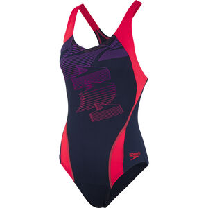 speedo Boom Placement Racerback Swimsuit Damen navy/red navy/red