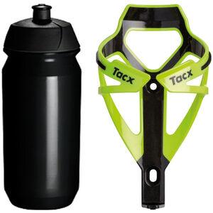 Tacx Deva/Shiva Trinkflasche + Halter fluo gelb/schwarz bei fahrrad.de Online