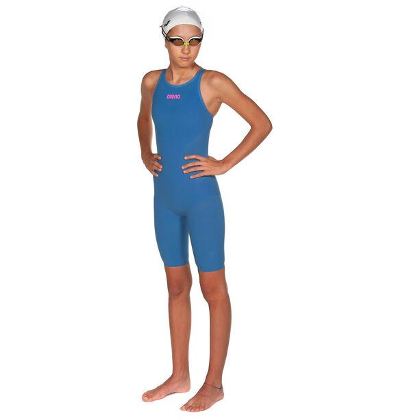 arena Powerskin R-Evo Full Body Short Leg Oper Back Badeanzug Mädchen blue/powder pink
